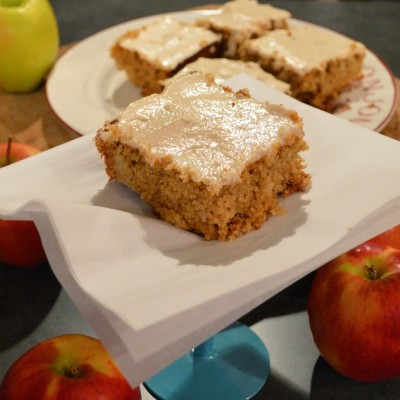 Gluten Free Apple Spice Cake with Vanilla-Honey Cream Cheese Frosting by Sweet And Savory Spence