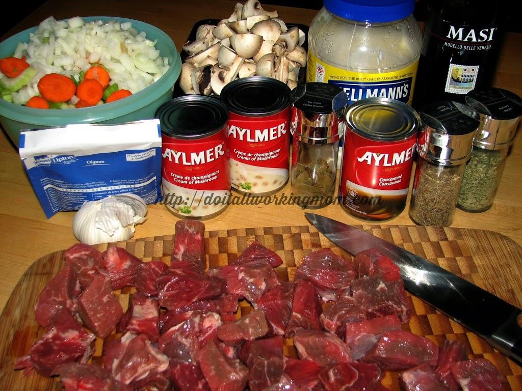 Crock-Pot Beef Bourguignon