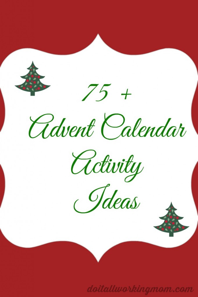 Christmas Advent Calendar Activity Ideas