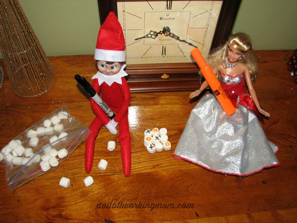 Christmas 10 easy elf on the shelf ideas