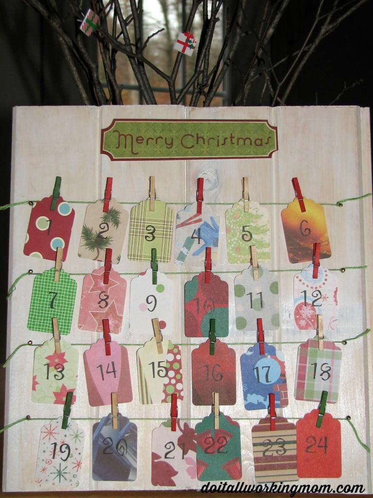 Christmas activities advent calendar