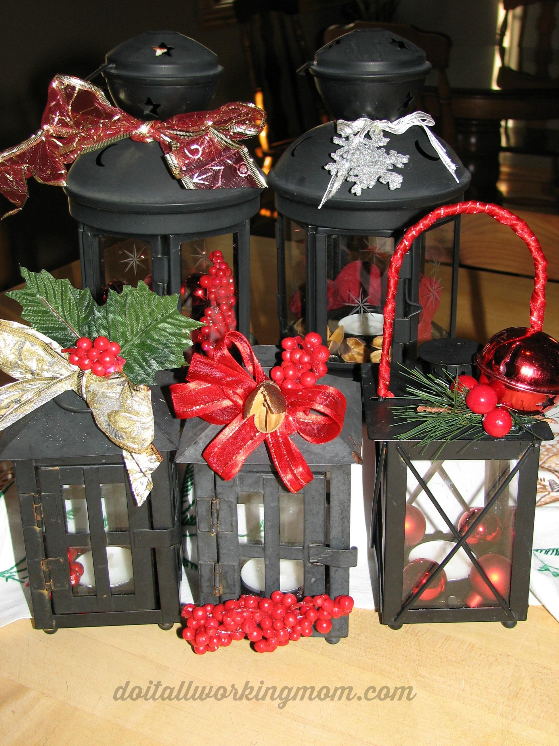 Christmas Lanterns.Christmas Lanterns Do It All Working Mom
