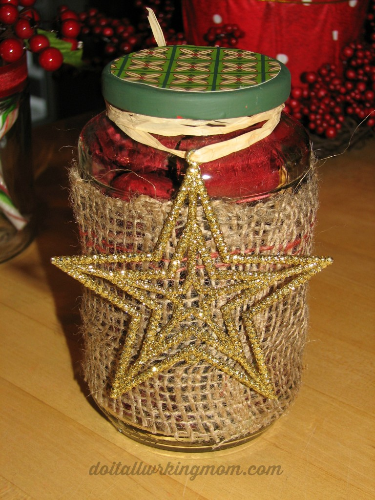 Christmas Decorated Gift Jar