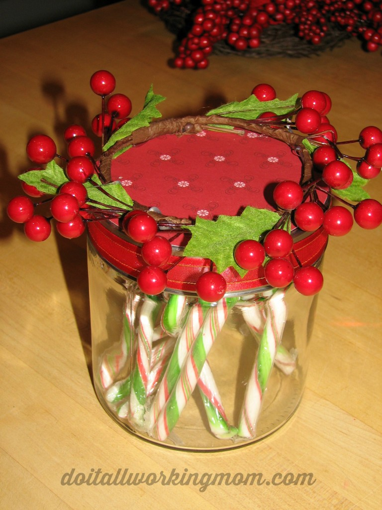 Christmas Decorated Gift Jars