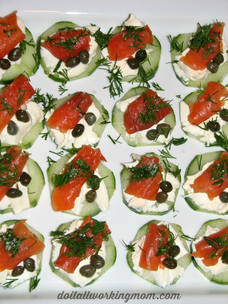 Cucumber and Smoked Salmon Appetizers Recipe
