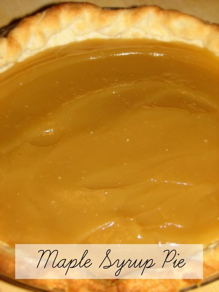 Maple Syrup Pie Recipe