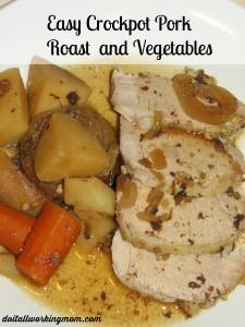 Easy Crock-Pot Pork Roast and Vegetables
