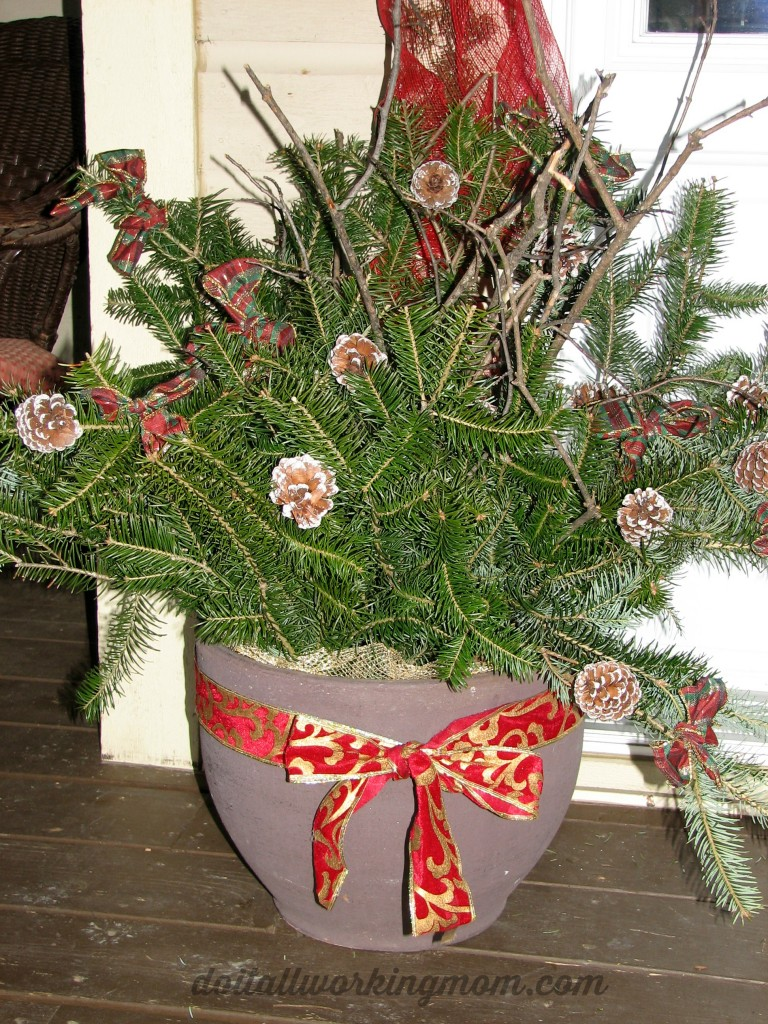 Christmas Container And Outdoor Decoration Ideas Do It All Working Mom