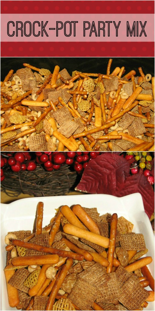 Easy Crock-Pot Party Mix Recipe