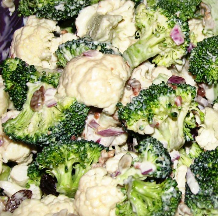 Broccoli and Cauliflower Salad Recipe