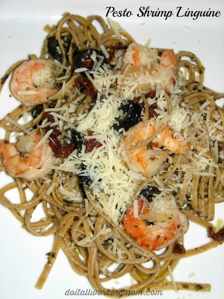 Pesto Shrimp Linguine