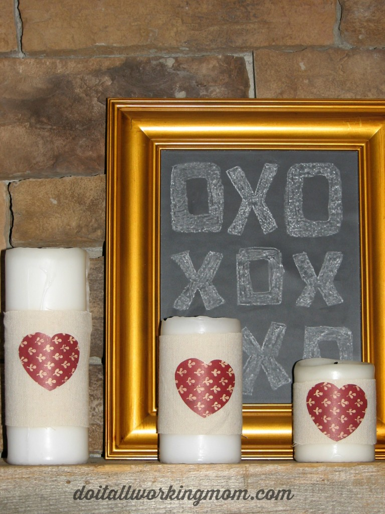 Valentines Day Candles and Frame