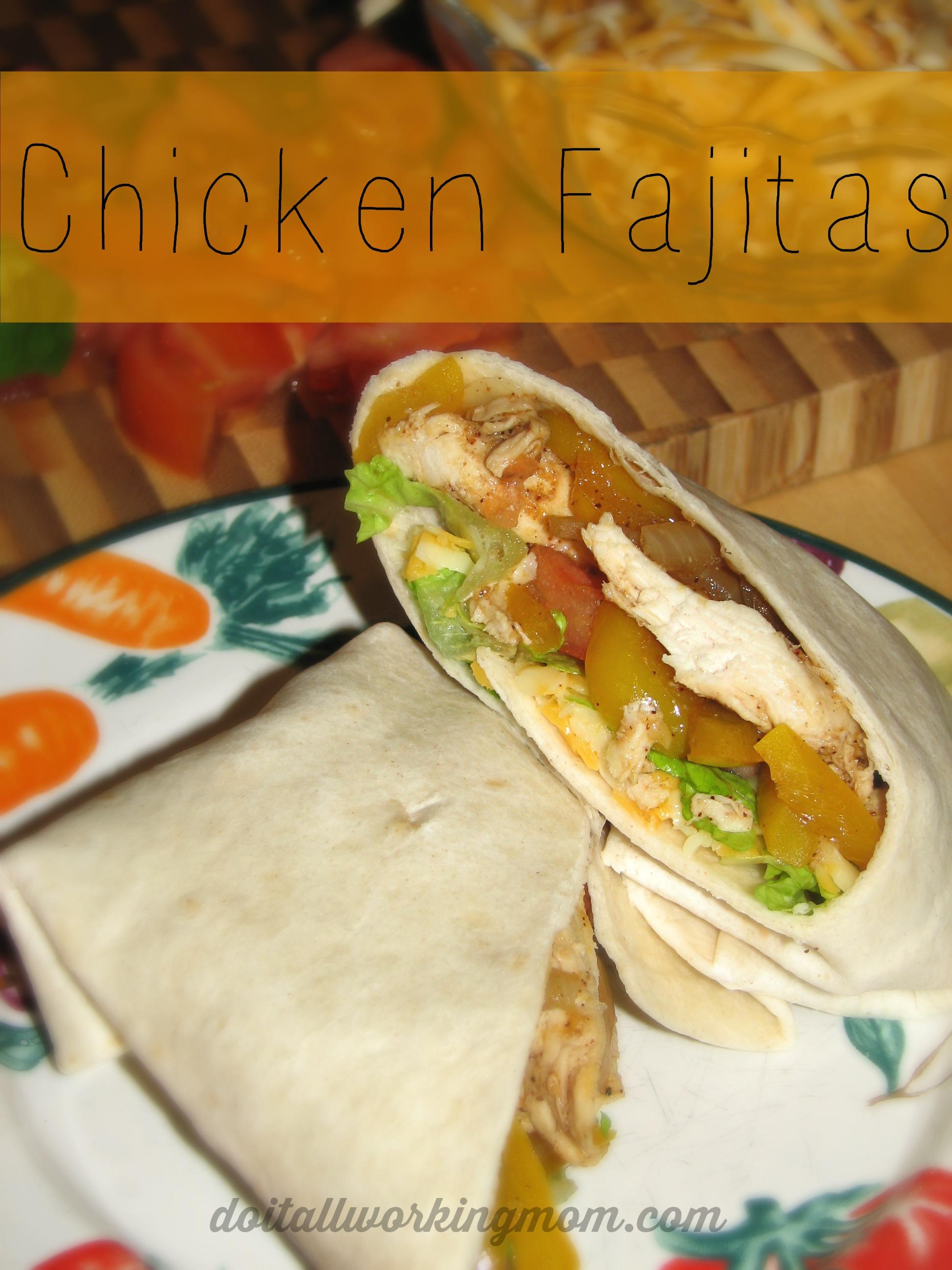 Quick and Easy Chicken Fajitas Recipe