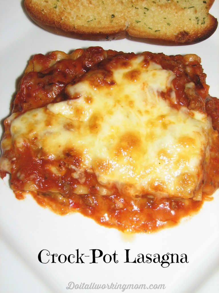 Do It All Working Mom - Crock-Pot Lasagna