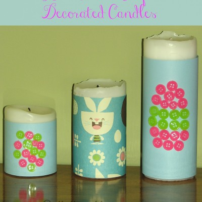 DIY Easter Decorated Candles