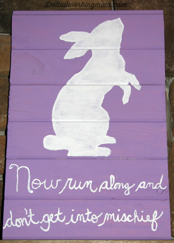 Do It All Working Mom - Easter Wooden Sign