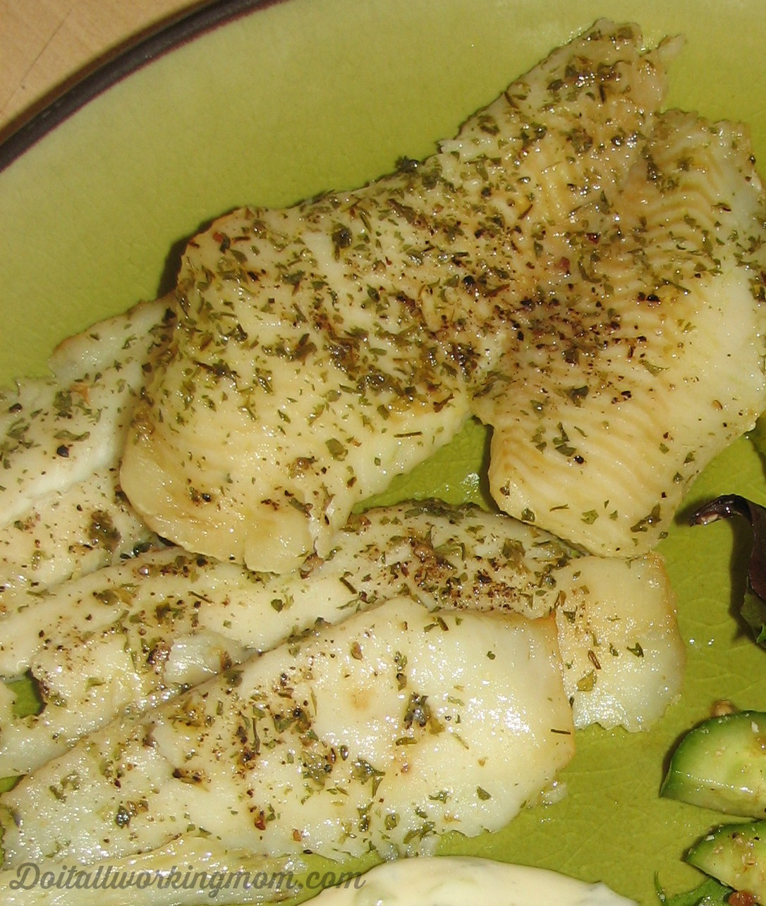 Easy Oven Baked Fillet of Sole and Tartar Sauce