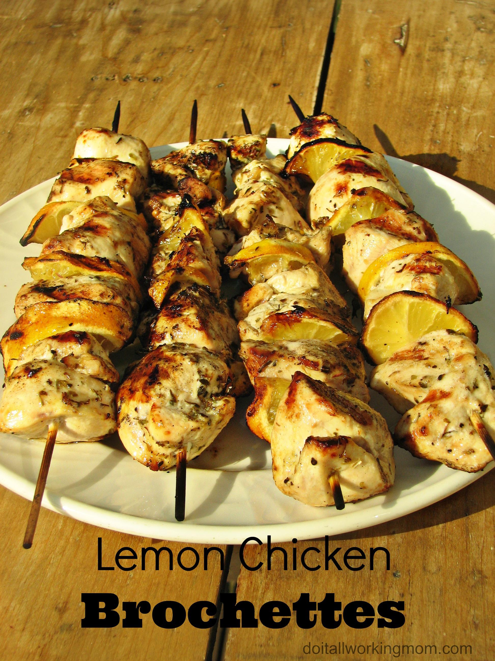 Lemon Chicken Brochettes