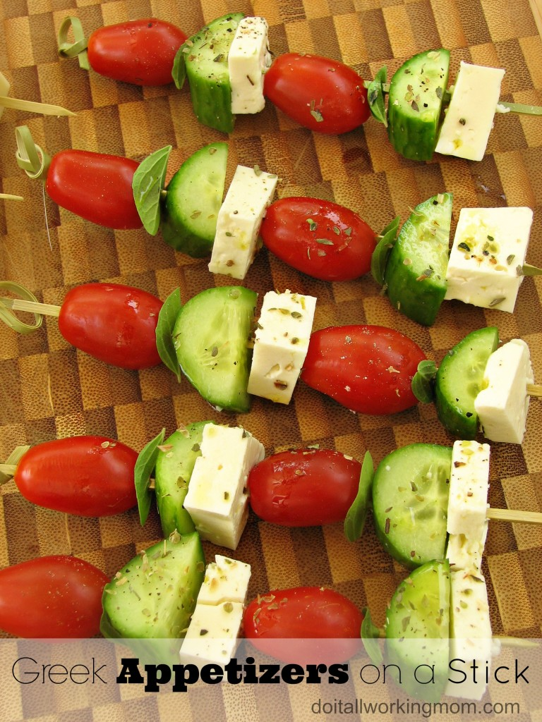Do It All Working Mom - Greek Appetizers on a Stick