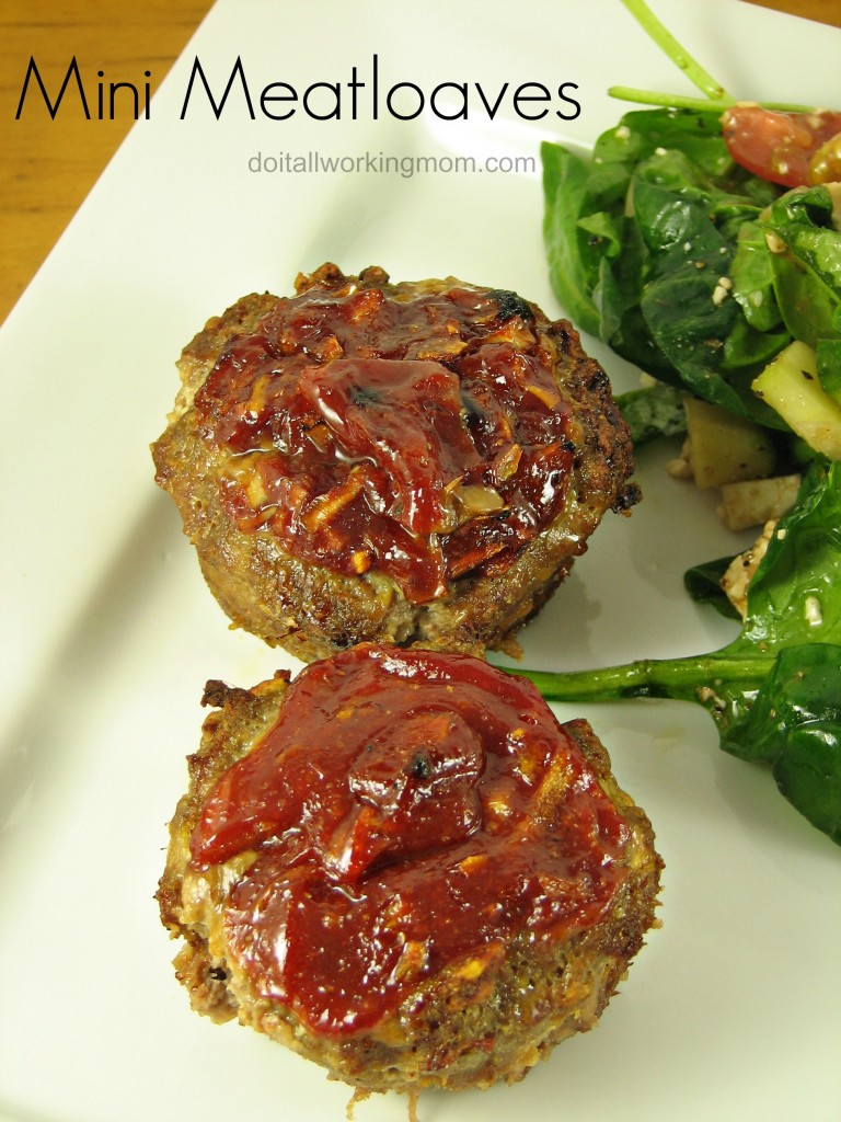 Do It All Working Mom - Mini Meatloaves