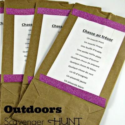 Outdoors Scavenger Hunt for Kids