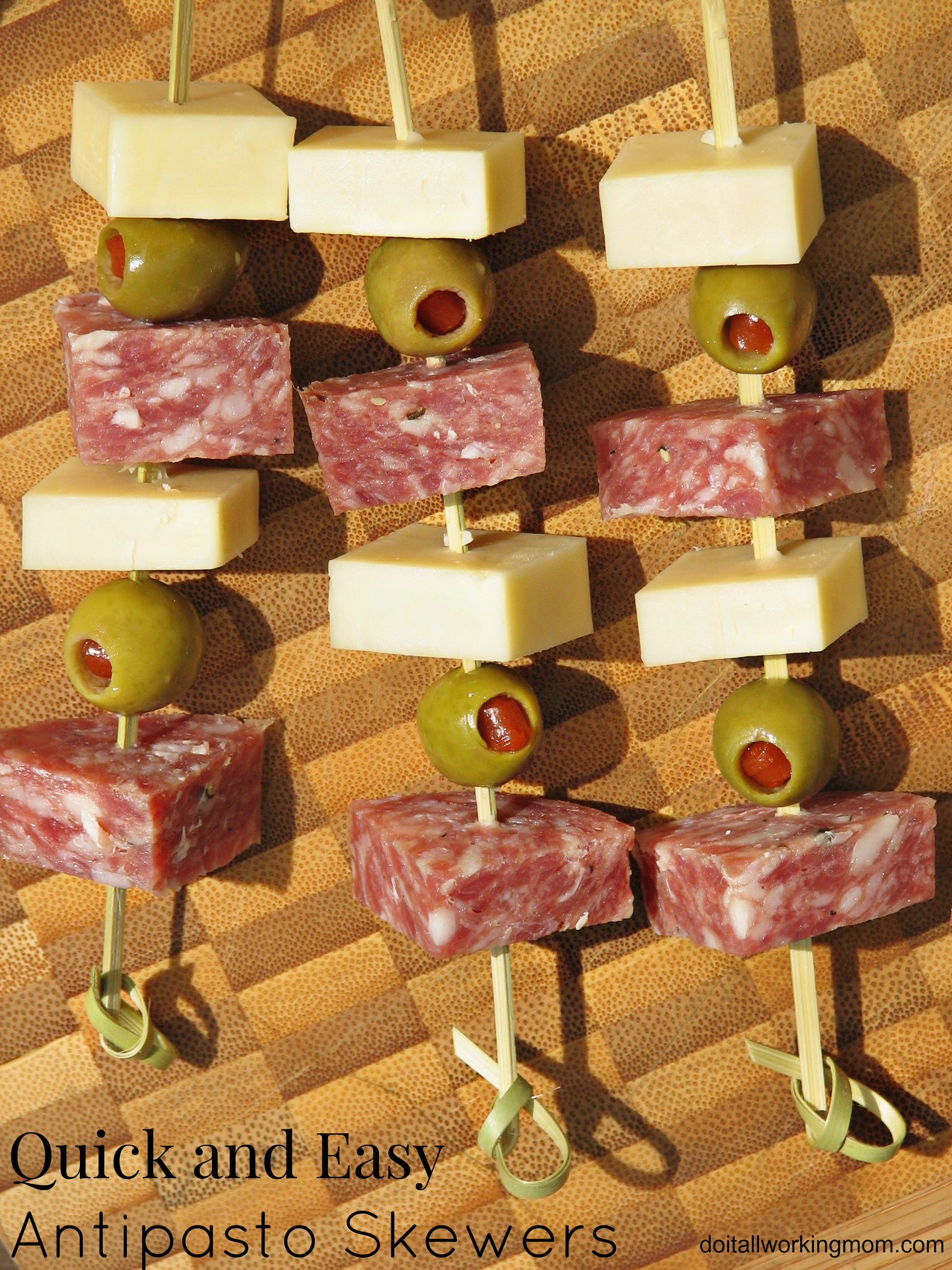 Quick and Easy Antipasto Skewers