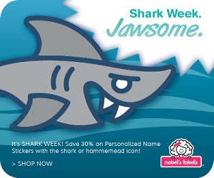 Shark Week Special at Mabel's Labels