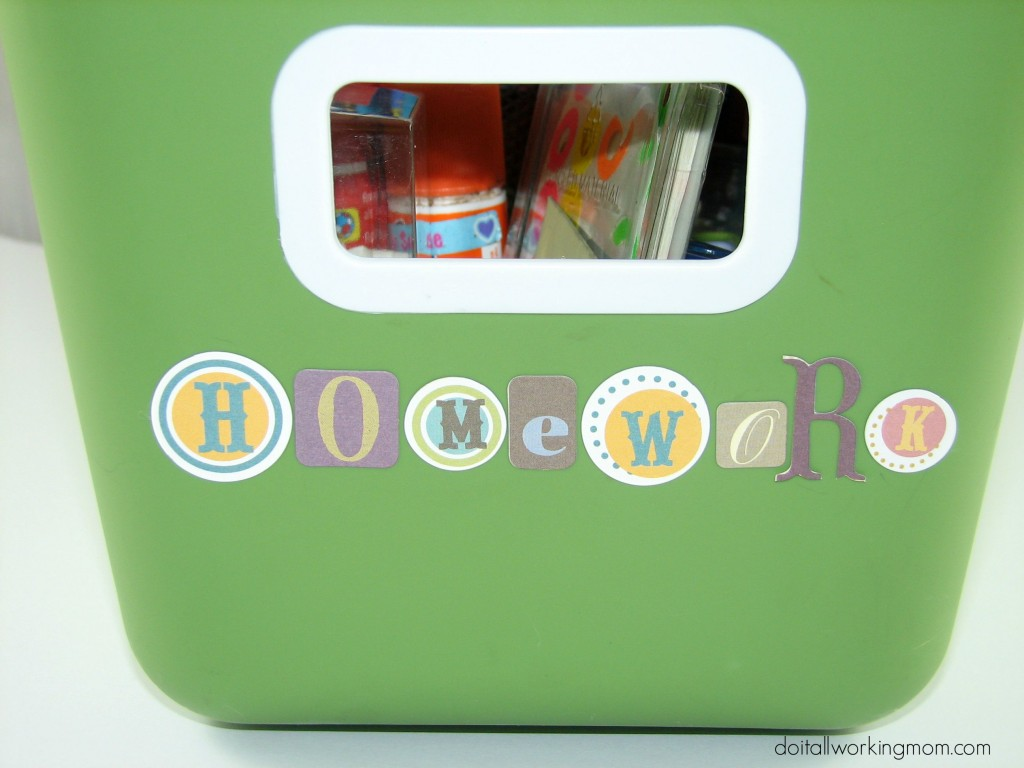 Do It All Working Mom - Homework Caddy 1