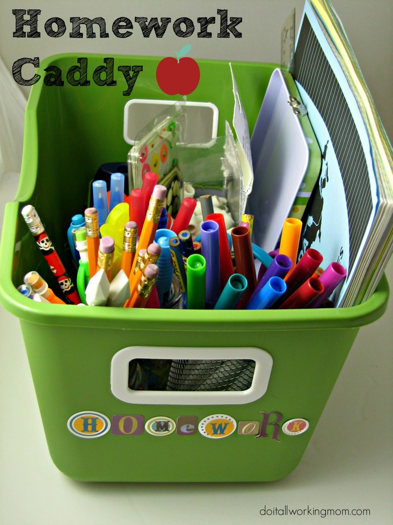 Do It All Working Mom - Homework Caddy 3