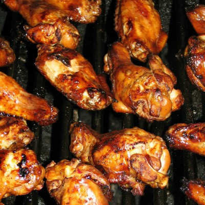 Marinated and Grilled Chicken Wings