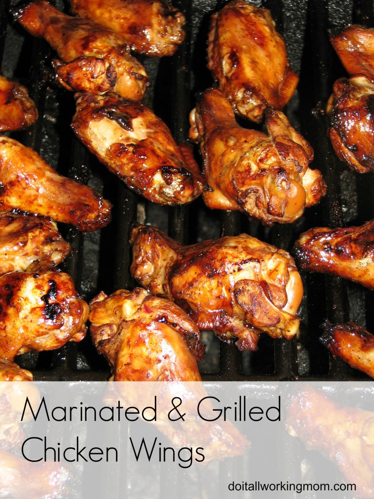 Do It All Working Mom - Marinated and Grilled chicken wings
