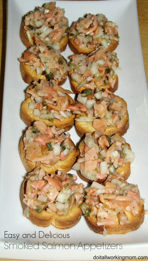 Do It All Working Mom - Smoked Salmon Appetizers