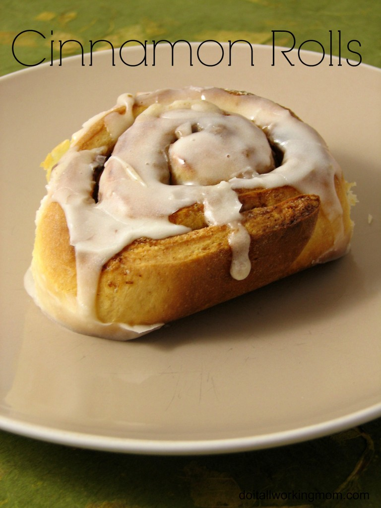 Do It All Working Mom - Cinnamon Rolls