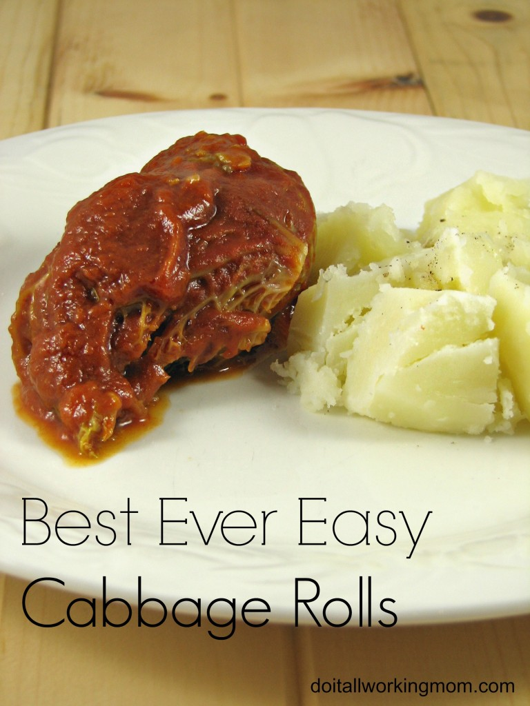 Do It All Working Mom - Best Ever Easy Cabbage Rolls
