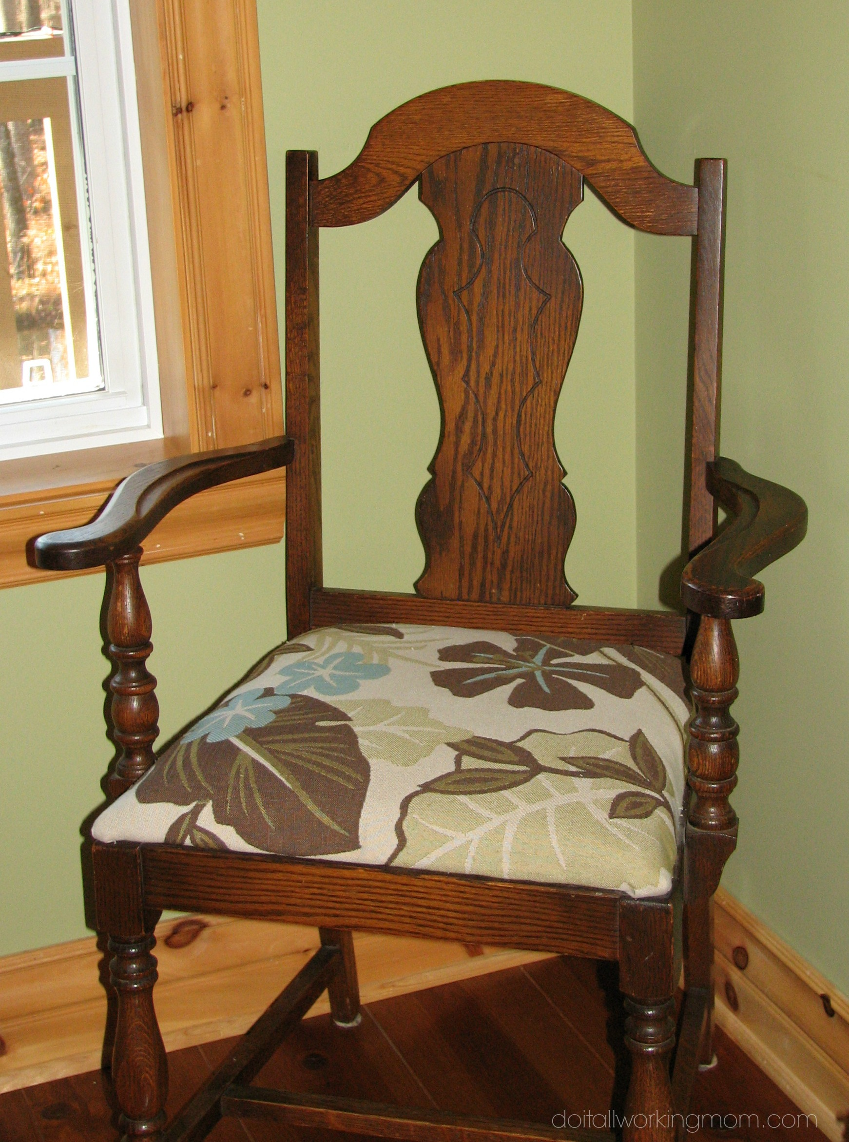 How To Reupholster Chairs Using Old Cushions Do It All Working Mom