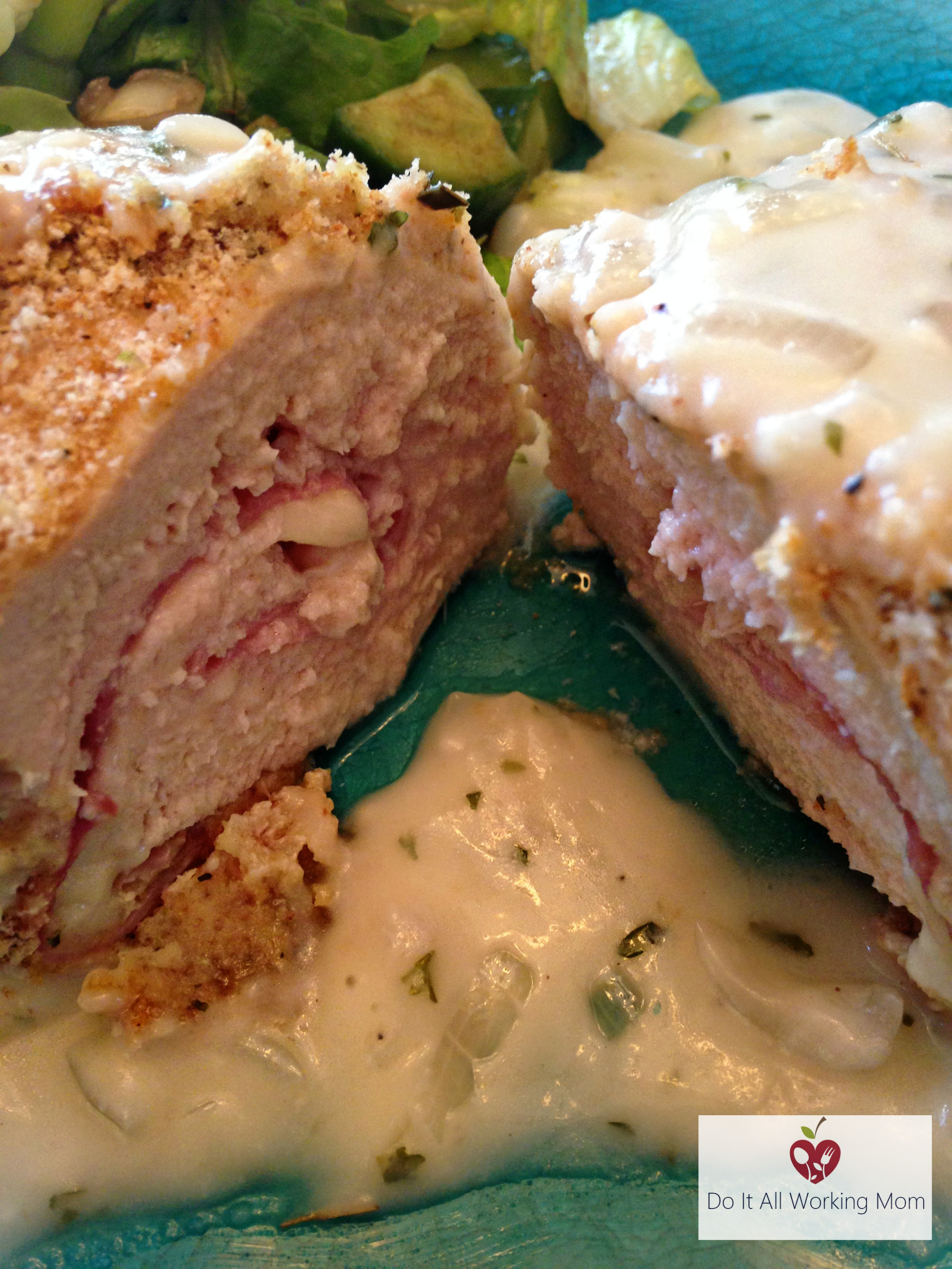 Chicken Cordon Bleu with Creamy Shallot Sauce