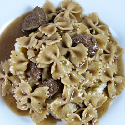 Bow Tie Pasta with Beef