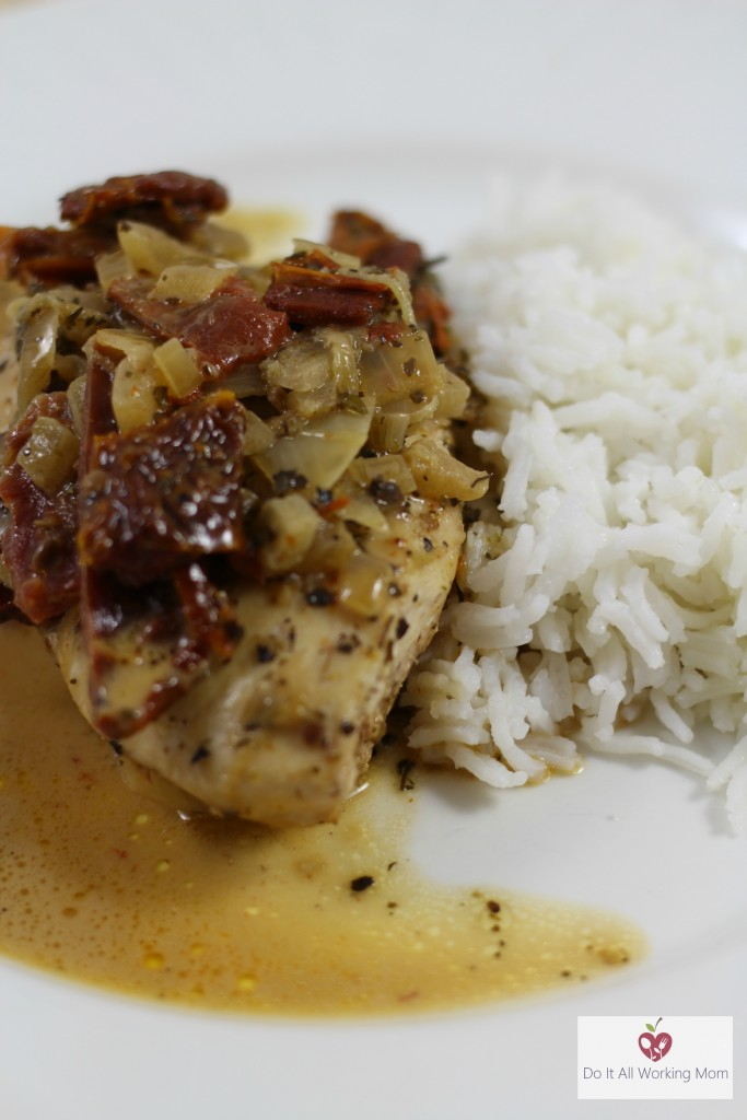 Chicken Breasts in sundried tomato sauce