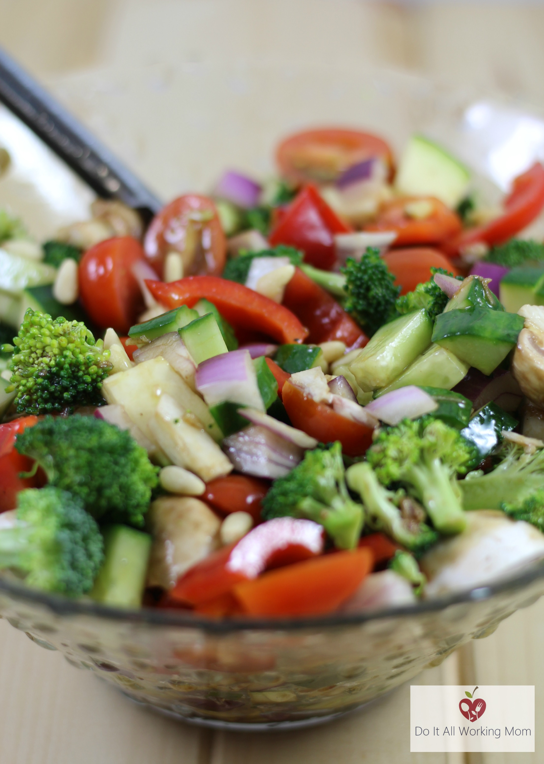 Vegetable Salad with Honey Balsamic Dressing