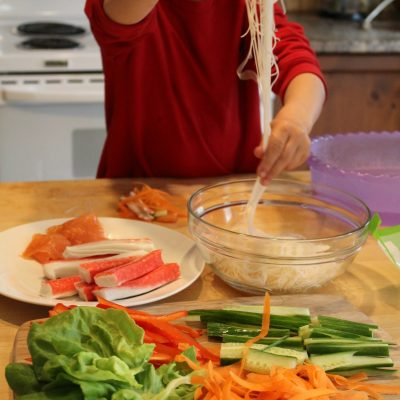 Spring Rolls Recipe – Cooking with Kids