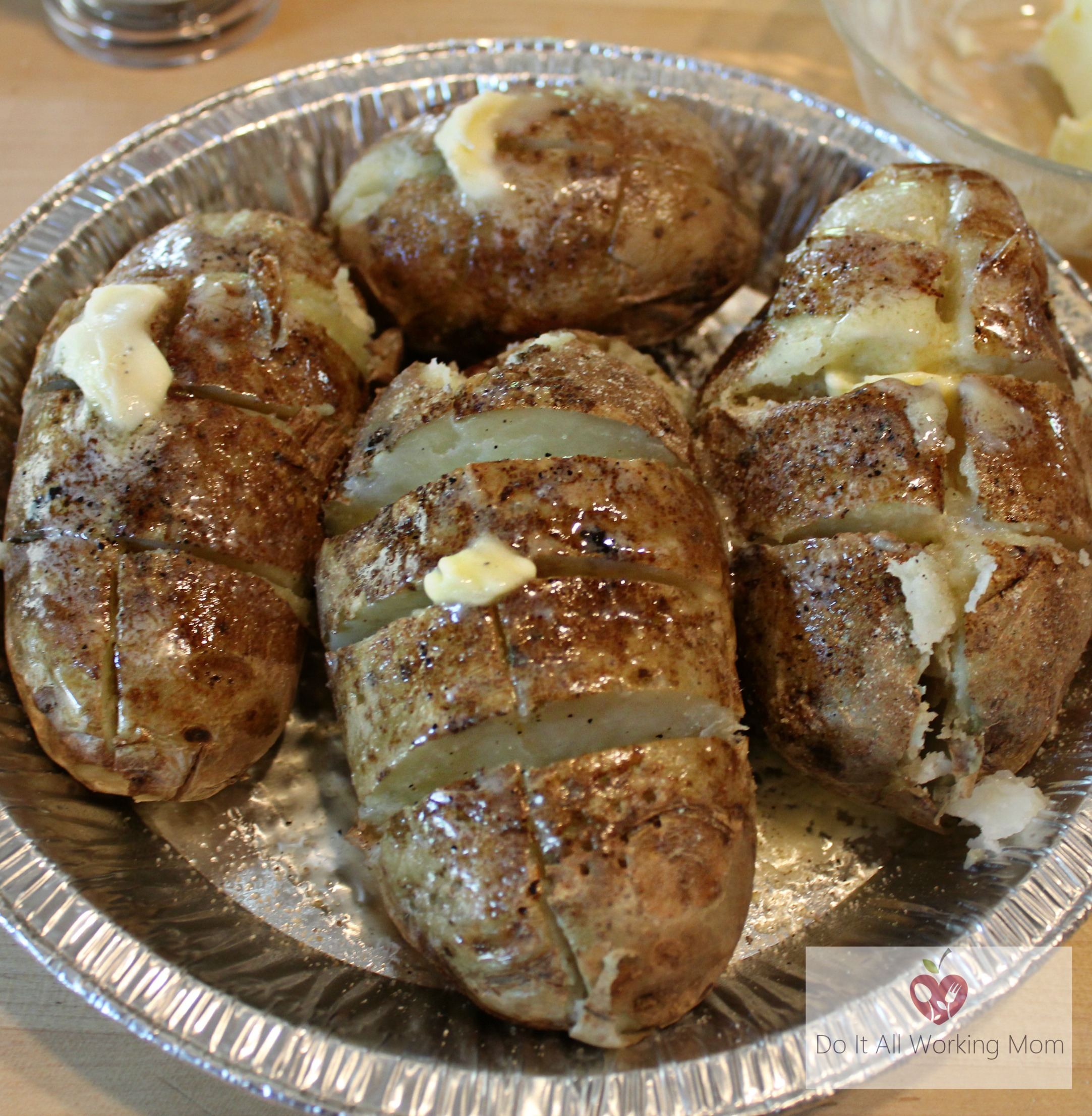 Quick Baked Potatoes on the Grill