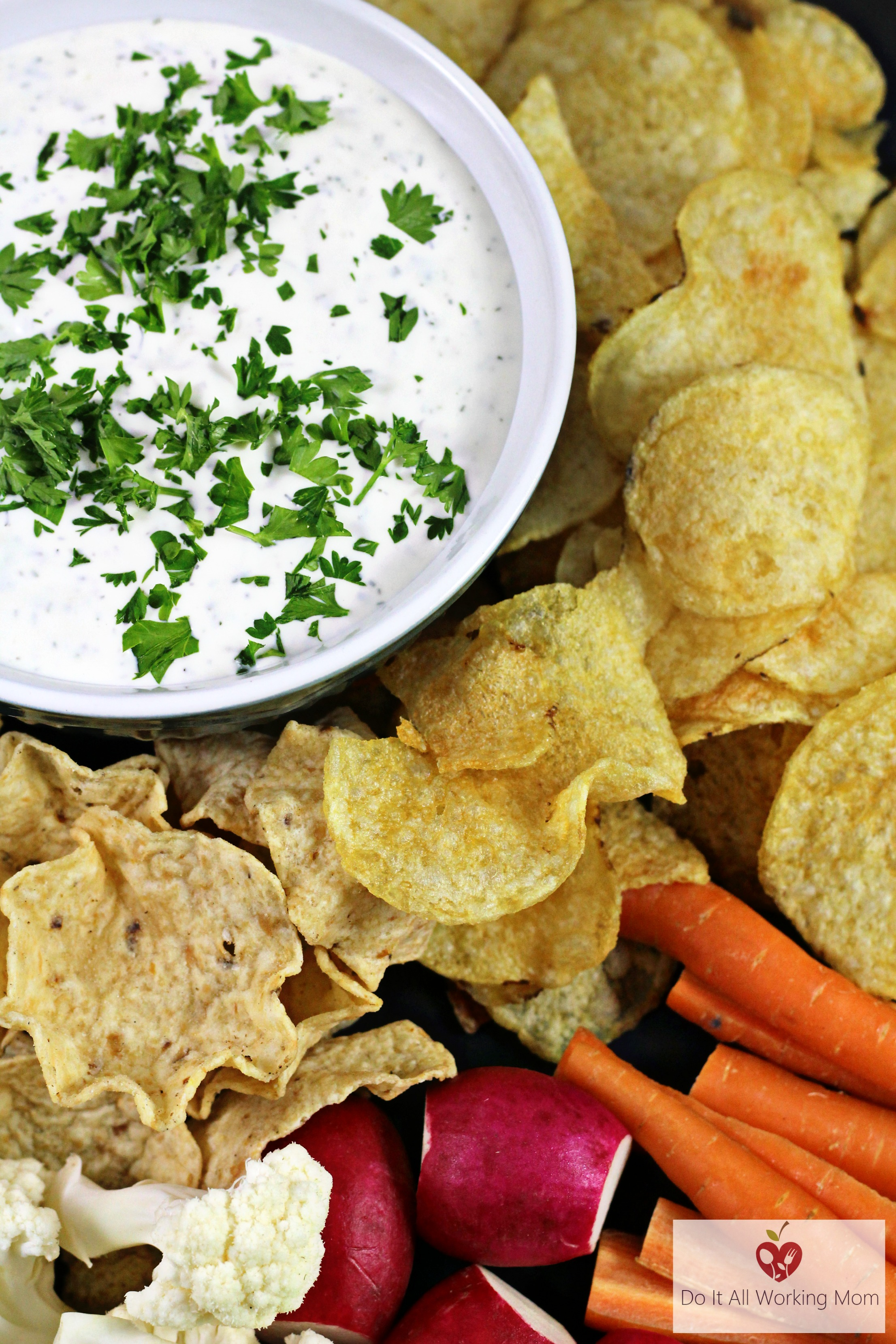 Easy Chip and Veggie Dip