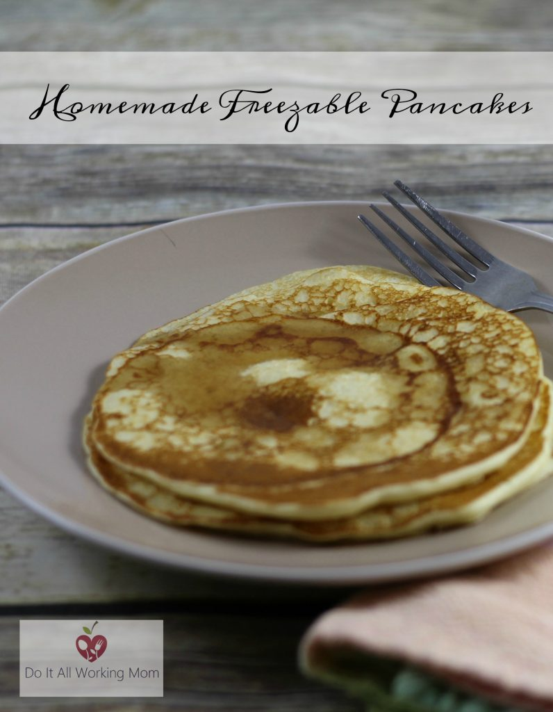 Homemade Freezable Pancakes