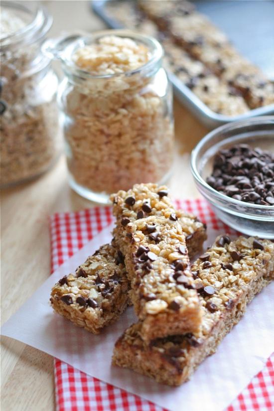 No bake choco chips granola bars