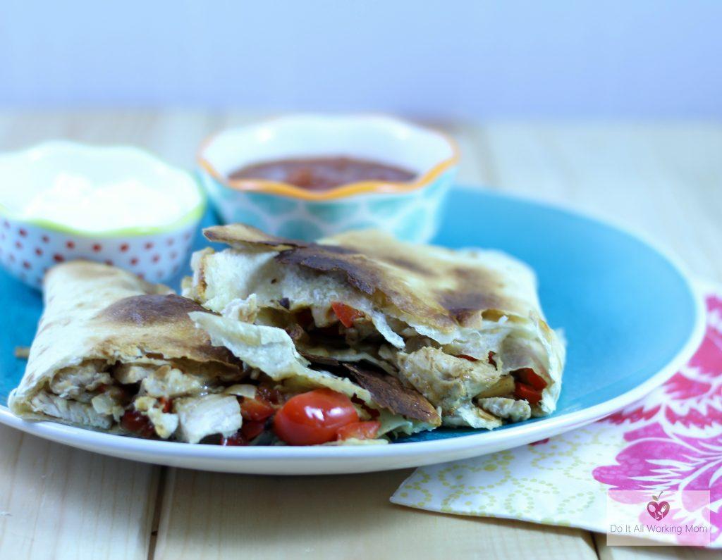 Easy baked chicken quesadillas
