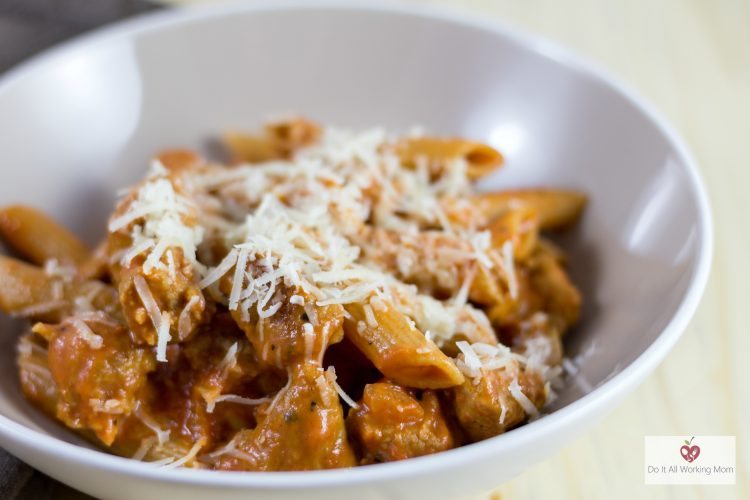 Easy Sausage Penne alla Vodka