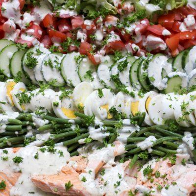 Grilled Salmon Cobb Salad