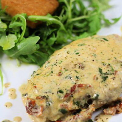 Tuscan chicken with Parmesan sauce/ Poulet Toscan Sauce Parmesan